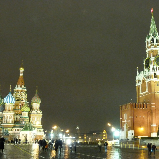 """Red square and St Basils"" stock image"