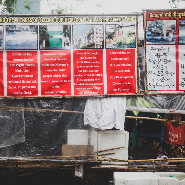 """Yangon Protesters"" stock image"