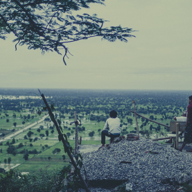 """""""Cambodian View"""" stock image"""