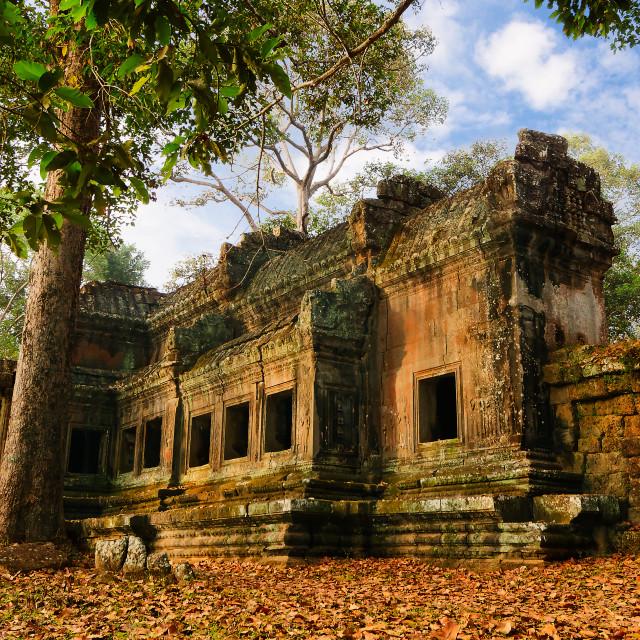 """Angkor Wat Gatehouse"" stock image"