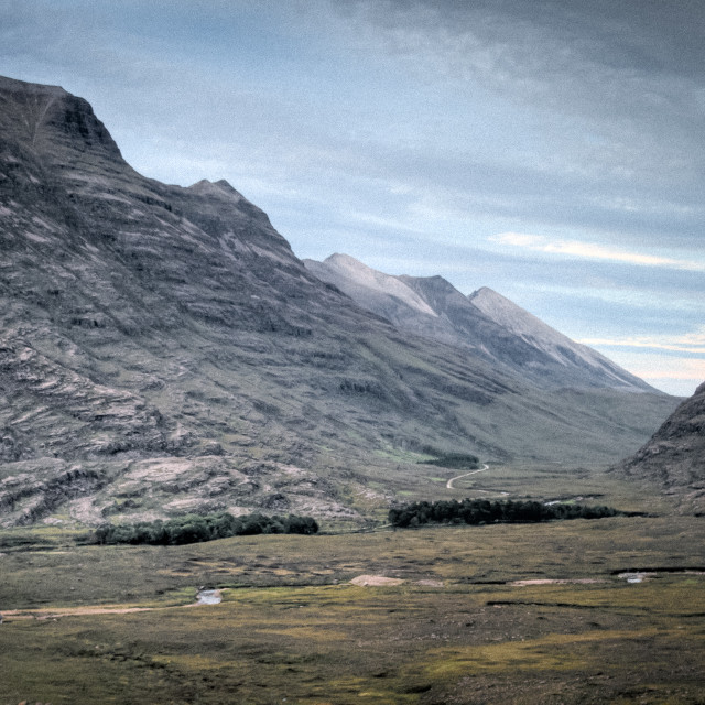 """""""The Road to Beinn Eigh"""" stock image"""