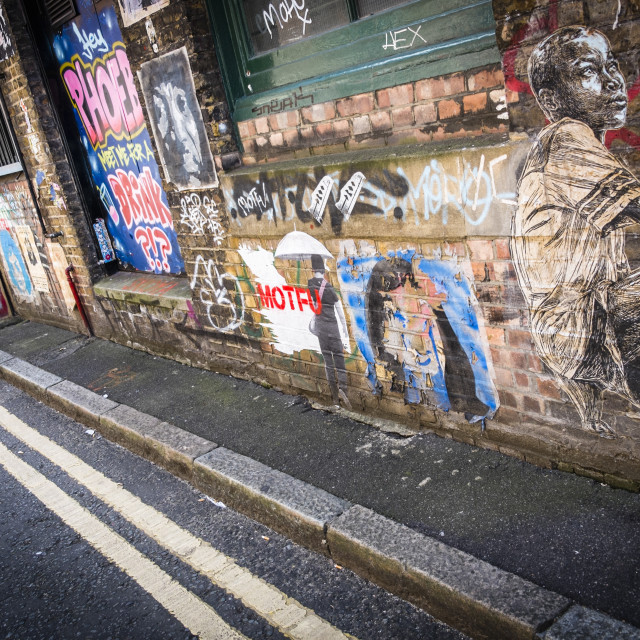 """Street art in London, United Kingdom"" stock image"