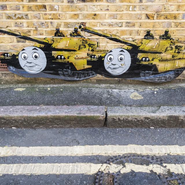 """Street art in London, United Kingdom"" stock image"