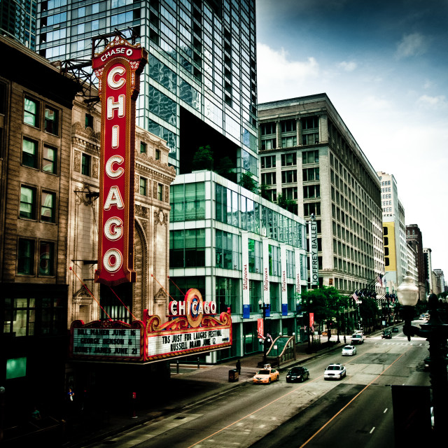 """Technicolor Chicago"" stock image"