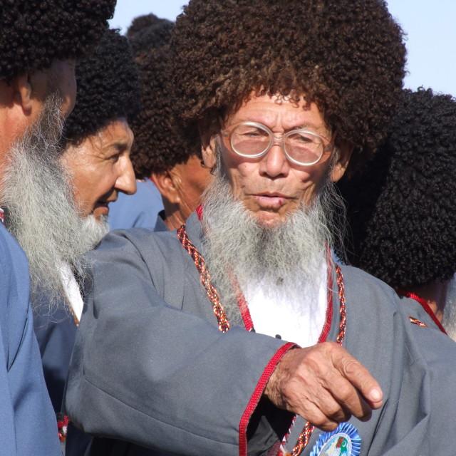 """""""Turkmen aksakal"""" stock image"""