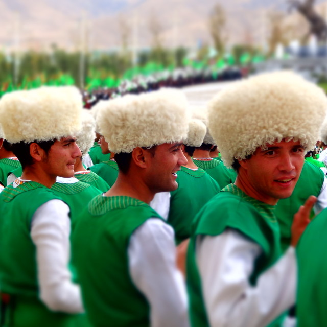 """Turkmen celebrations"" stock image"