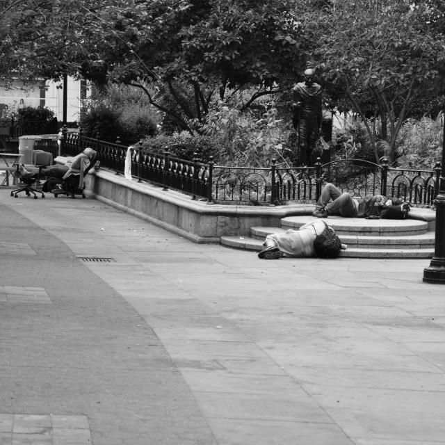 """Homeless NYC"" stock image"