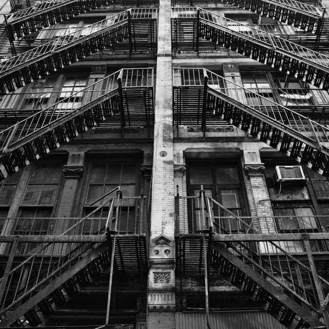 """Fire Escape"" stock image"