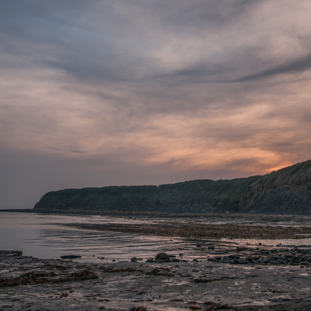 """Kimmeridge Bay"" stock image"