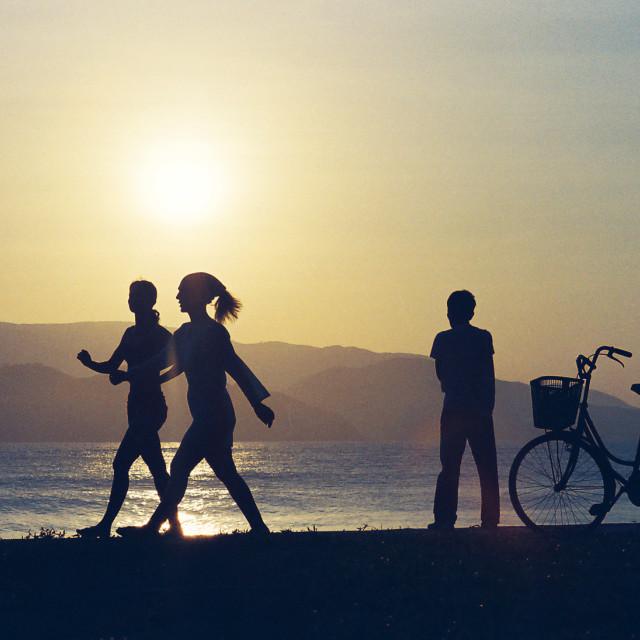 """Sunrise on the beach"" stock image"