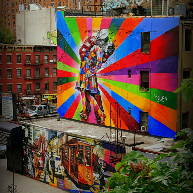 """Street Art from The High Line"" stock image"