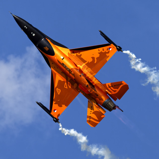 """""""General Dynamics F-16AM Fighting Falcon"""" stock image"""