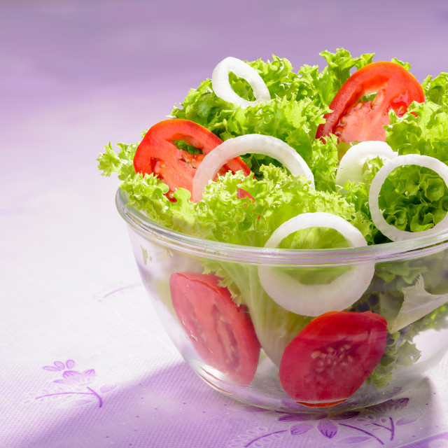 """""""Mixed Salad with Onion and Tomatoes"""" stock image"""