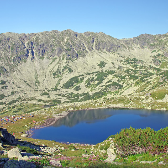 """Glaciar lake"" stock image"