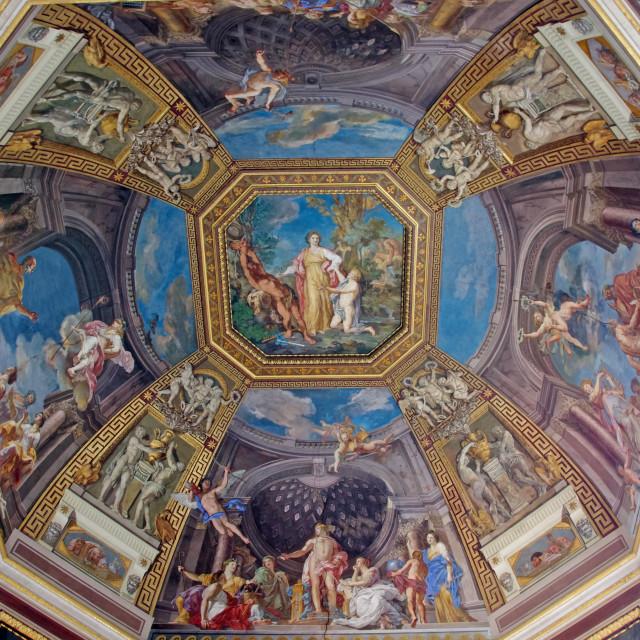 """Ceiling in Vatican Museum"" stock image"