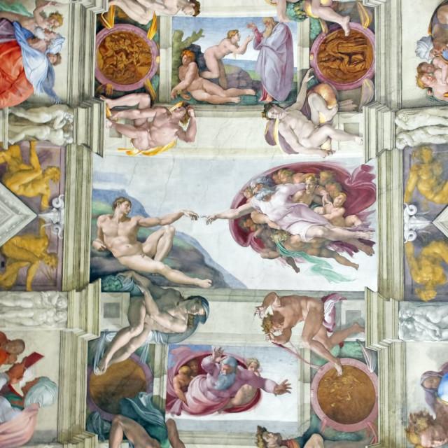 """""""Michelangelo's masterpiece"""" stock image"""