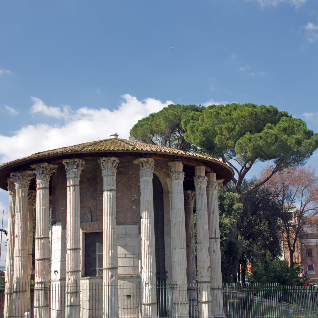 """Temple of Hercules Victor"" stock image"