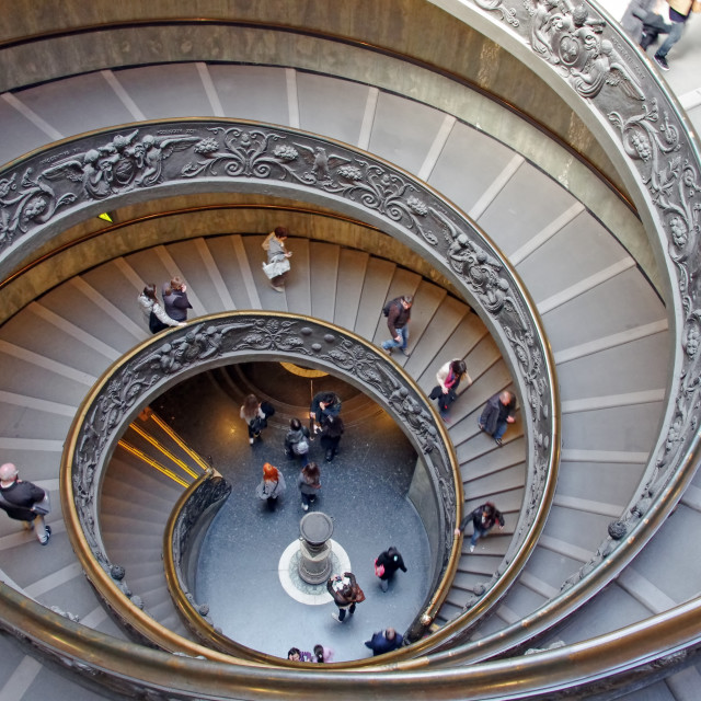 """""""Spiral stairs in Vatican"""" stock image"""