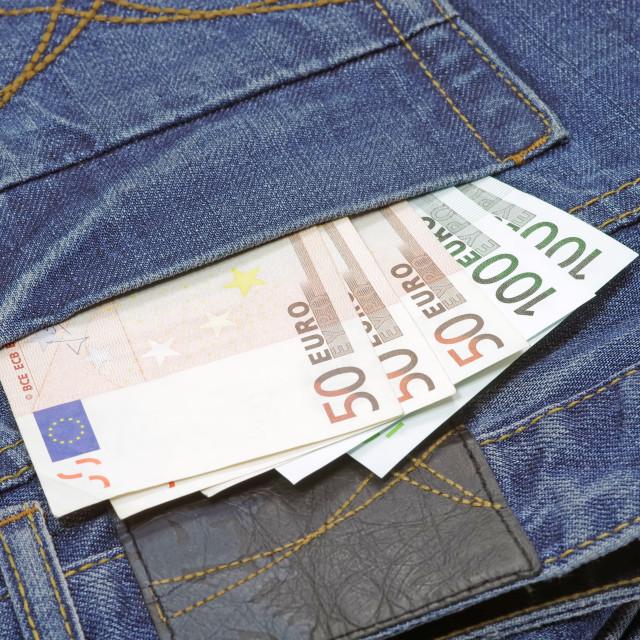 """Money in pocket"" stock image"