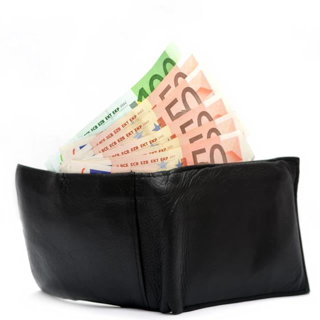 """""""Money in wallet"""" stock image"""