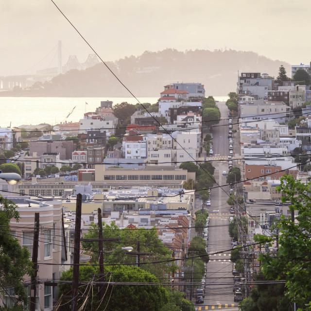"""San Francisco Street"" stock image"