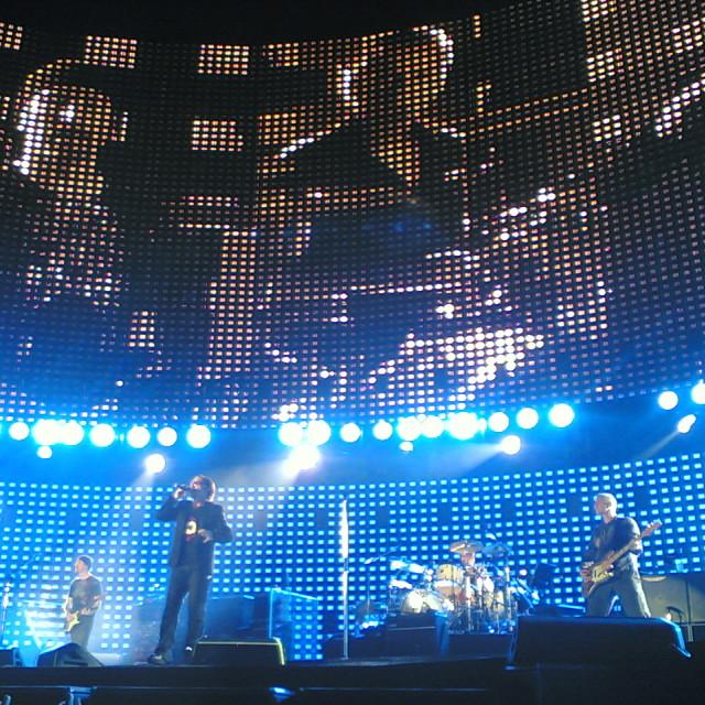 """""""U2 @ Cardiff Millennium Stadium"""" stock image"""