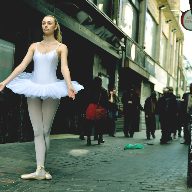 """7. Street Ballerina - Soho, London"" stock image"