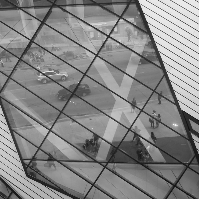 """Royal Ontario Museum reflection"" stock image"