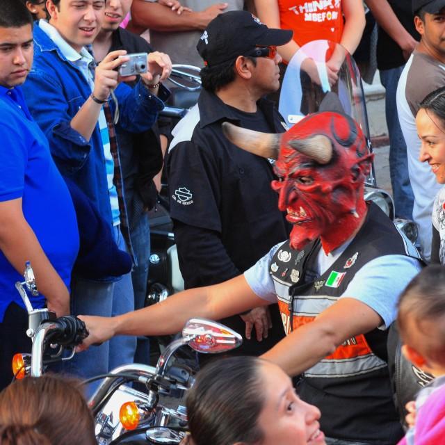 """""""El Diablo en El Harley"""" stock image"""