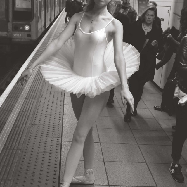 """6. Street Ballerina - Oxford Circus Station, London"" stock image"