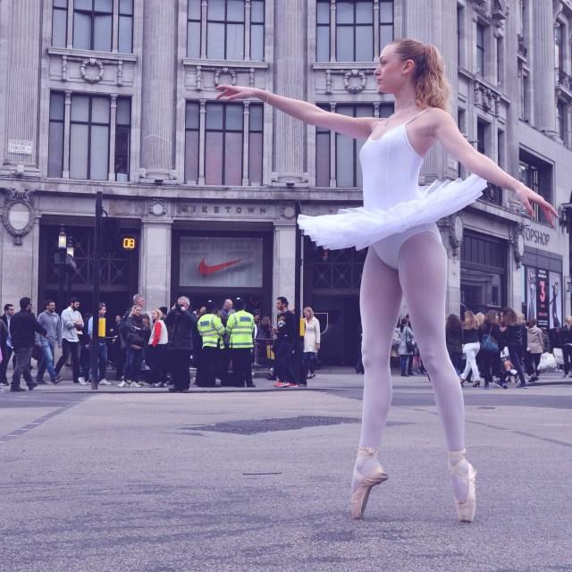 """3. Street Ballerina - Oxford Circus"" stock image"