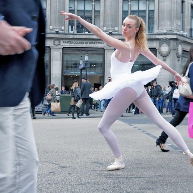 """2. Street Ballerina - Oxford Circus"" stock image"