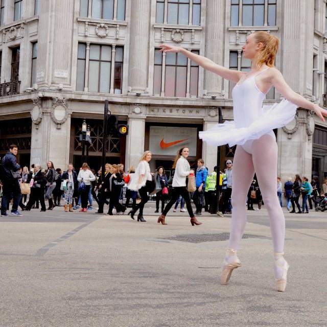 """1. Street Ballerina - Oxford Circus"" stock image"