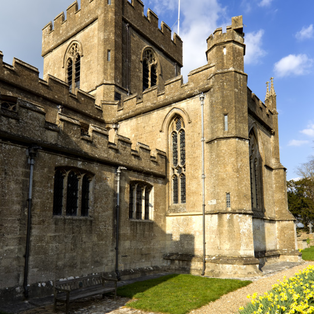 """Edington Priory Church, Wiltshire, UK."" stock image"