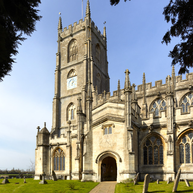 """Church of St. Mary the Virgin, Steeple Ashton, Wiltshire, UK"" stock image"