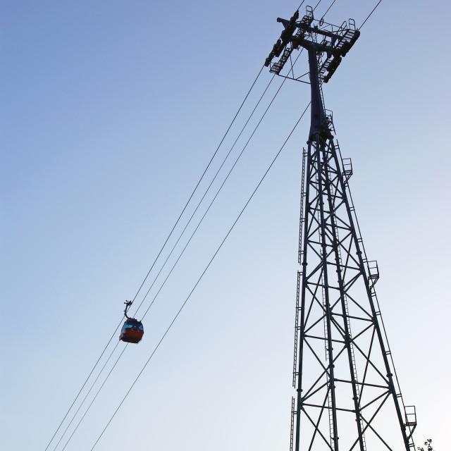 """""""Gondola ropeway"""" stock image"""