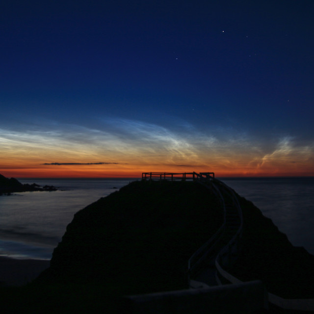 """Noctilucent Clouds"" stock image"