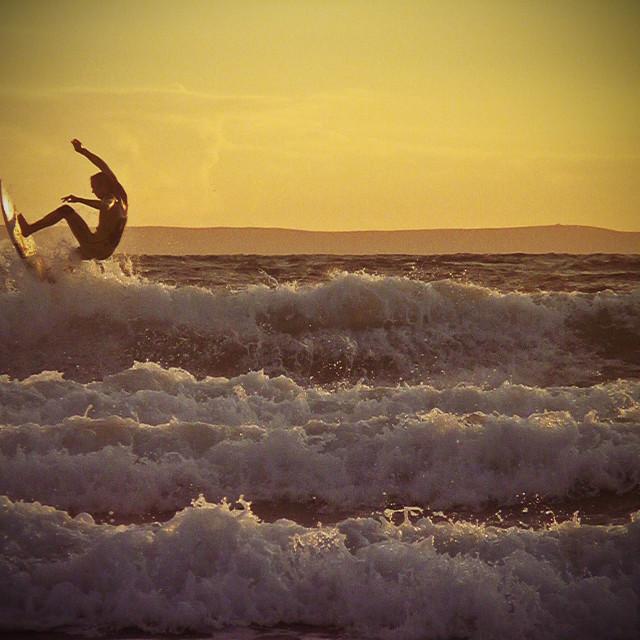 """""""Woolacombe Surfer"""" stock image"""