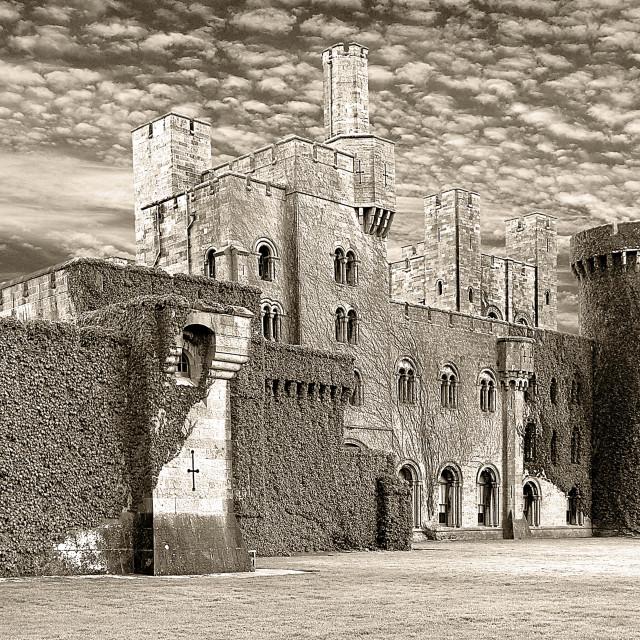 """""""Penrhyn Castle Sepia"""" stock image"""