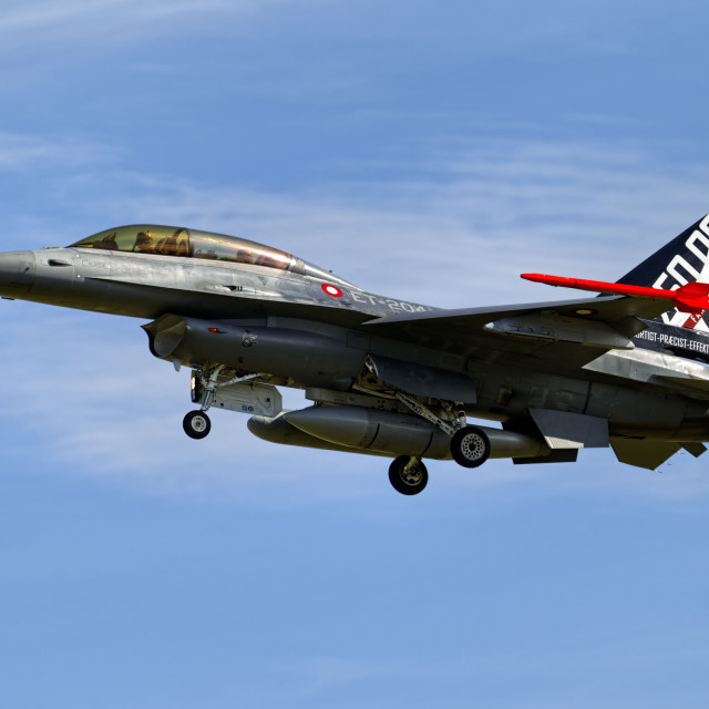 """SABCA F-16BM Fighting Falcon ET-204"" stock image"