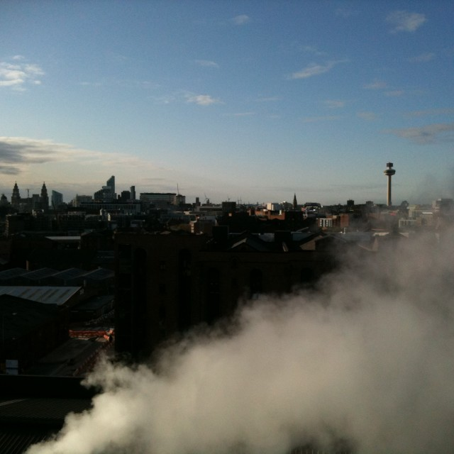 """Liverpool steam"" stock image"