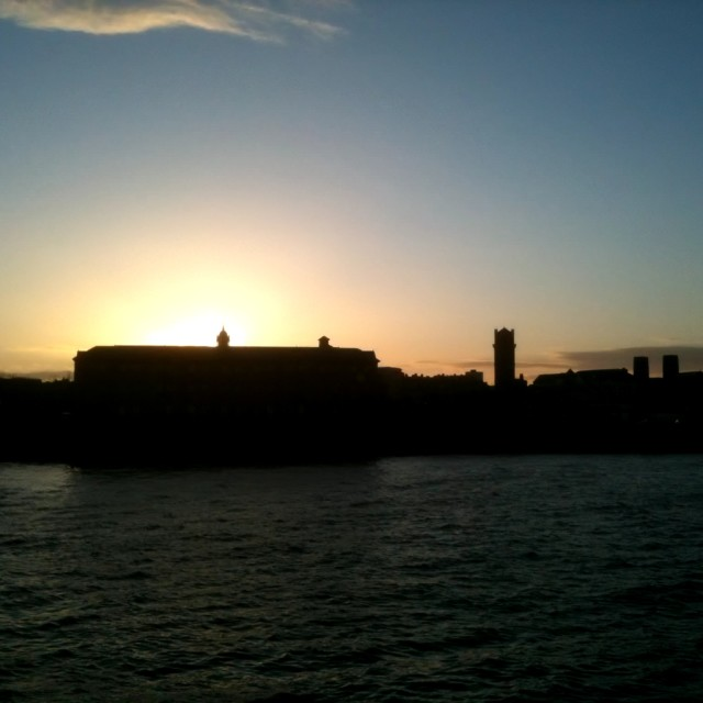 """Birkenhead Sunset"" stock image"