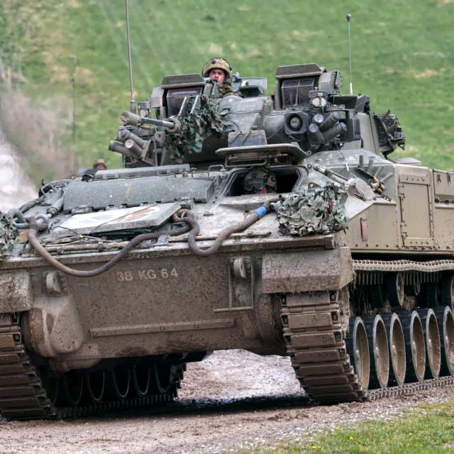 """British Army Warrior Armoured Fighting Vehicle"" stock image"