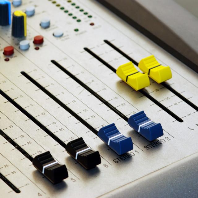 """""""Audio mixer"""" stock image"""