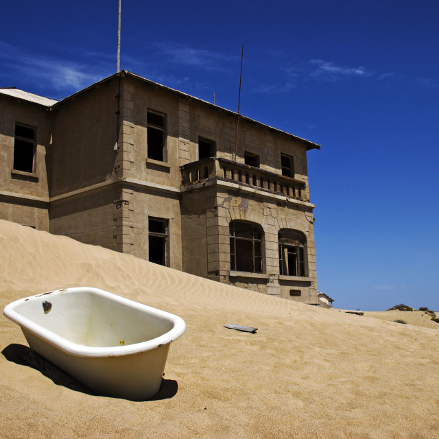 """Desolated Desert Town Kolmanskop"" stock image"