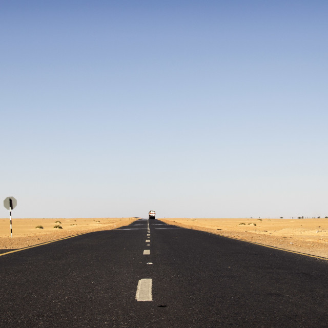 """Sudanese hitchhiker"" stock image"