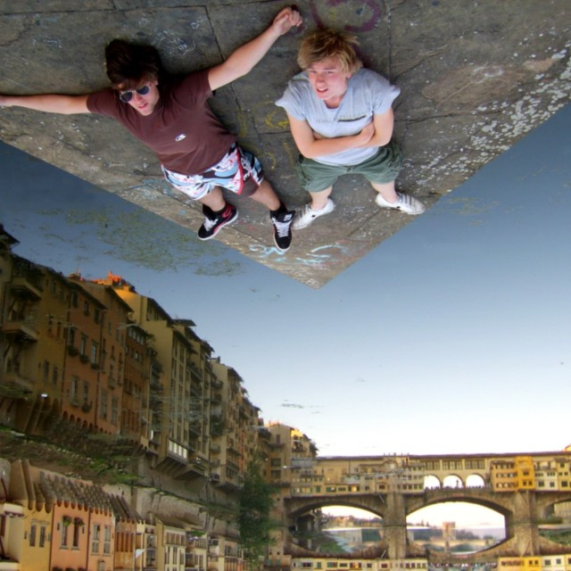 """Glued in Firenze"" stock image"