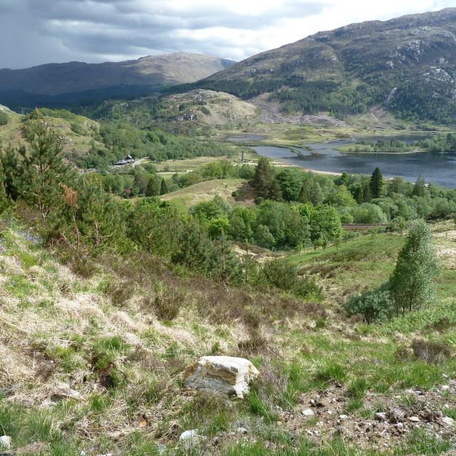 """Glenfinnan and Loch Shiel"" stock image"