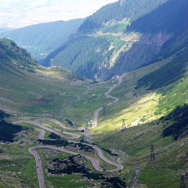 """""""Alpine road"""" stock image"""