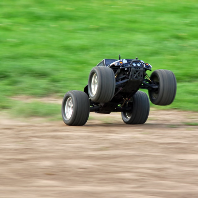 """Powerful radio controlled car"" stock image"